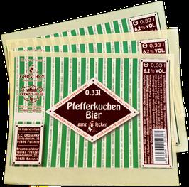 Entwicklung unserer Pfefferkuchen Bier Etiketten