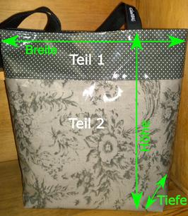 Wachstuch / Shopper Gina 2 teilig