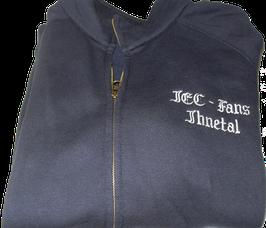 Sweatshirt (Schriftzug gestickt mit Reissverschluss und Kapuze)