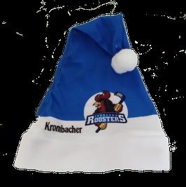 Weihnachtsmütze Blau-Weiss (mit Fanclublogo)
