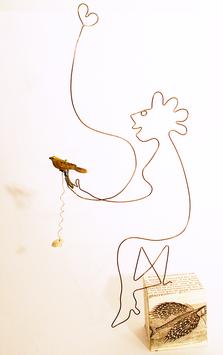 """""""Vogelfrau"""" - Eindraht-Figur"""