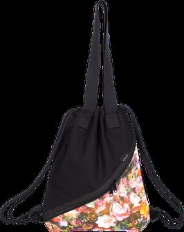 Vegan Gymbag 'BLACK // FLOWER'