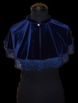 Capelet eleganten Samt Marineblau, Einzelstück!