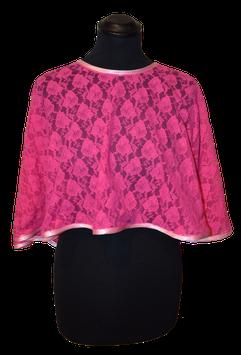 Capelet aus pink/rosa Spitze