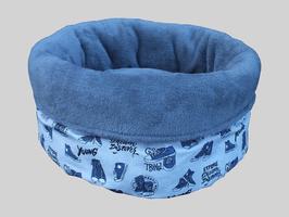 Schlafsack Sneakers, blaues Kuschelfleece