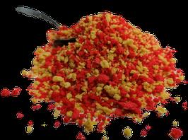 NB T1 Zusatz Futterpartikelmix fluo rot/gelb 3-5mm