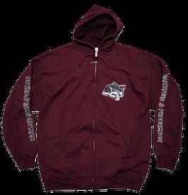 NB Full Zip Hooded Sweat maroon