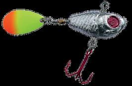 Profi-Blinker Spinner Jig mit fluogelb/rotem Blatt