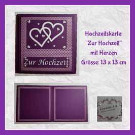 Hochzeitskarte violett