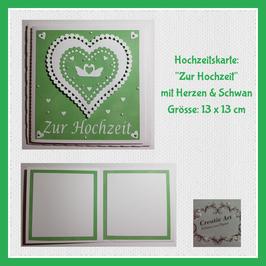 hochzeitskarte grün