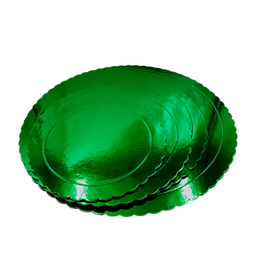 Base Tarta Rizada Verde 25 cm x 3 mm