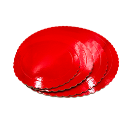 Base Tarta Rizada Roja 30 cm x 3 mm