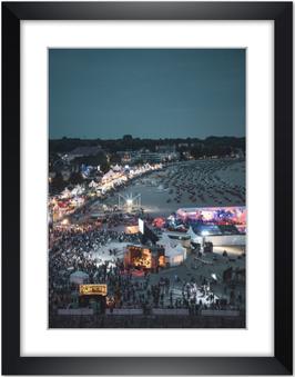 "Wandbild ""Strand Festival"""
