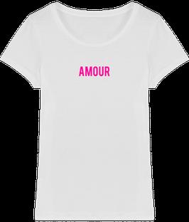 Tshirt femme brodé éthique Bio/AMOUR