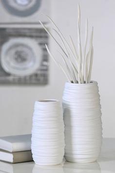 weiße Barrido Keramikvase