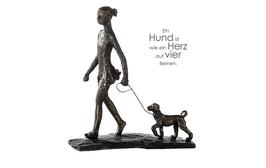 "Skulptur ""Walk the dog"""