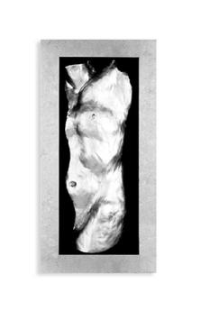 Körperabdruck Mann 3D Bild