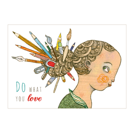 Postkarte Do what you love