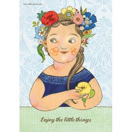 "Poster/Print A3 ""Enjoy the little things"" von Selda Soganci"