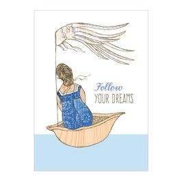 Postkarte Follow your dreams
