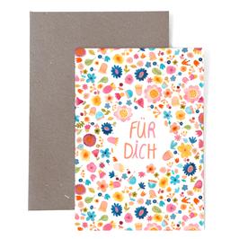 Klappkarte mit Umschlag von Frau Ottilie Für Dich
