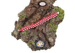 bracelet Aerin Coton rouge et rocailles de Bohème blanches