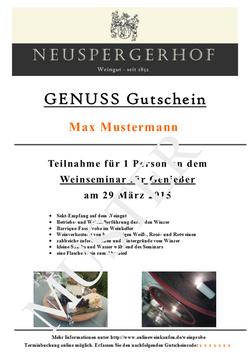 """Gutschein """"Wein trifft Käse im Weinberg"""""""