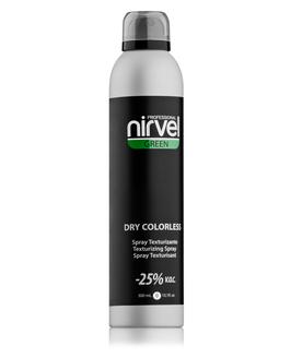 GREEN — Бесцветный текстурирующий спрей. Моментальный объем и свежесть волос — DRY COLORLESS SPRAY Nirvel, 300 мл.