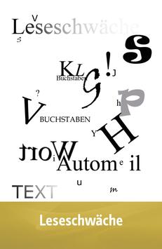"""Karte """"Leseschwäche"""""""