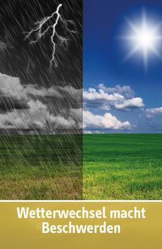 "Karte ""Wetterwechsel macht Beschwerden"""