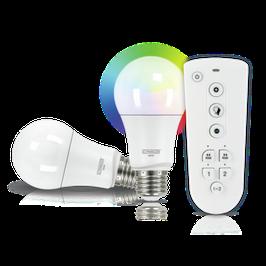 LED Leuchtmittel Set (E27) RGBW Multicolor Light