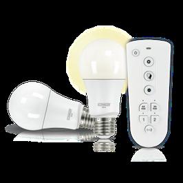 LED Leuchtmittel Set (E27) als dimmbares Wohnlicht