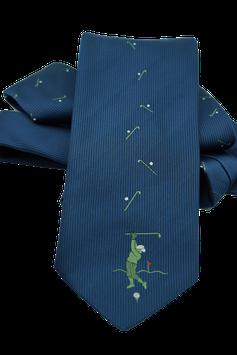 Krawatte mit Golfspieler (GK003)