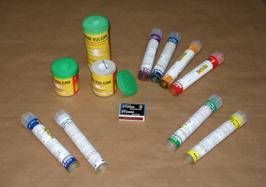 Handrauchfackeln mit Reibkopfzündung