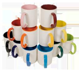 Keramiktasse 2 farbig Innen + Henkel