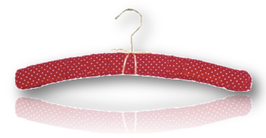 "Padded hanger ""Polka dot . strawberry"""