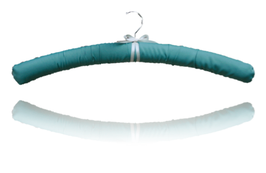 "Satin cushioned luxury hanger ""mint"""