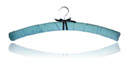 """Cintre de luxe """"soie aquamarine"""""""
