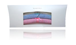 Classical hanger - Vichy bleu and pink