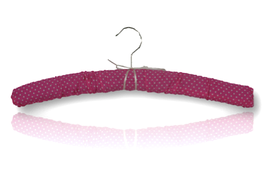 "Padded hanger ""Polka dot. raspberry"""