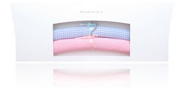Classic children's clothes hangers - Vichy bleu and abricot