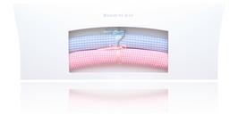 Klassische Kinderkleiderbügel - Vichy karo bleu und  abricot