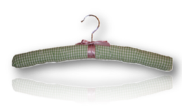 "Padded hanger ""Vichy-check green"""