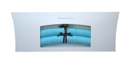 "Satin cushioned luxury hanger ""light-blue"""