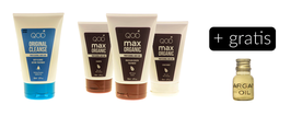 QOD max OrganiQ Brazilianische Keratin Hair Treatment 4er KIT Blow Dry + Gratis Argan Öl
