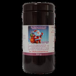 Amino- L-Arginin / L-Citrullin Pulver für Weihnachtsmänner by Robert Franz (500g)
