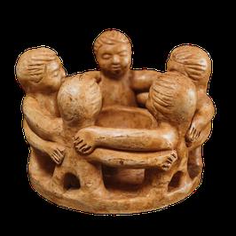 Freundeskreis 5 Figuren in Braun oder Naturweiß