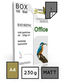 Office EVO 93274, matt gestrichen, DIN A4, 230 gr. | 100 Blatt