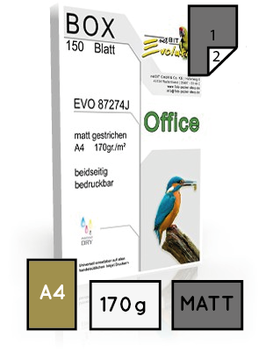 Office EVO 87274, matt gestrichen, DIN A4, 170 gr. | 150 Blatt
