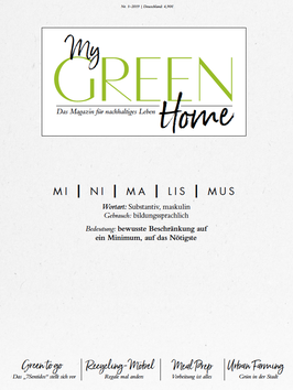 My GREEN Home  - Ausgabe 1/2019